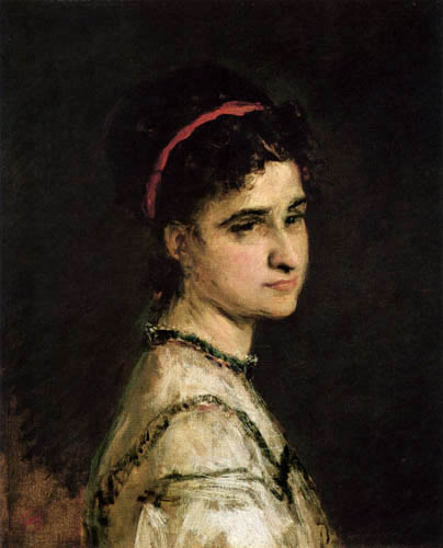 Mariano Fortuny - Portrait of Adelaida