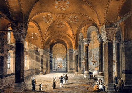 Gaspare Fossati - Hagia Sofia Constantinople, Viewed in the Gallery