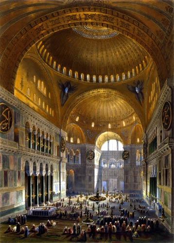 Gaspare Fossati - General view of the Hagia Sophia - Ayasofya Mosque