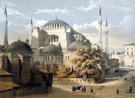 Gaspare Fossati - Die Hagia Sophia, Konstantinopel