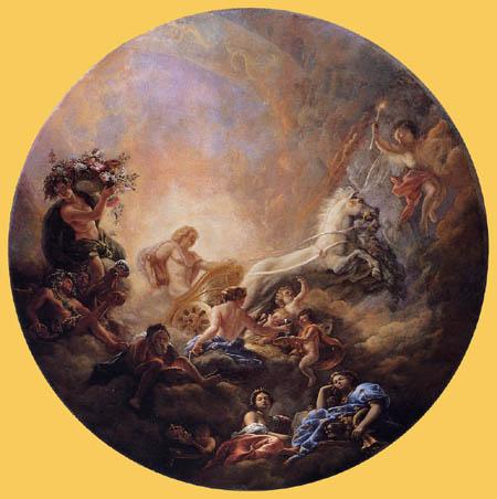 Charles de la  Fosse - The Chariot of Apollo