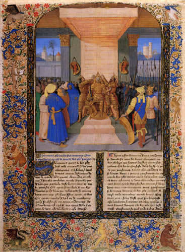 Jean Fouquet - Coronation of Alexander