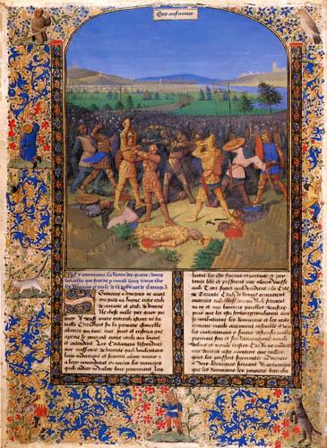 Jean Fouquet - Kampf zwischen Römern und Kathagern