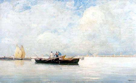 Pietro Fragiacomo - Seascape, The venetian Lagoon