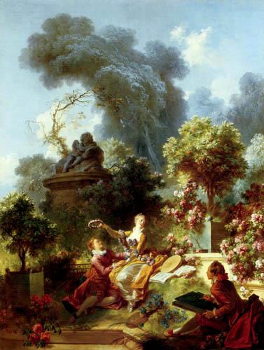 Jean-Honoré Fragonard - El amante coronado
