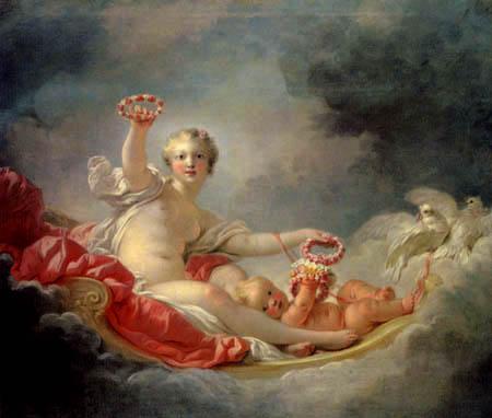 Jean-Honoré Fragonard - Venus und Cupido