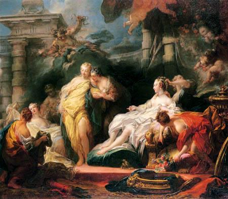 Jean-Honoré Fragonard - Psyche zeigt der Schwester ihr Geschenk