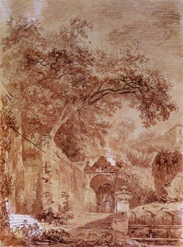 Jean-Honoré Fragonard - Eingang zum Brunnen von Pomona