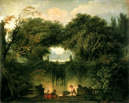 Jean-Honoré Fragonard - Der kleine Park