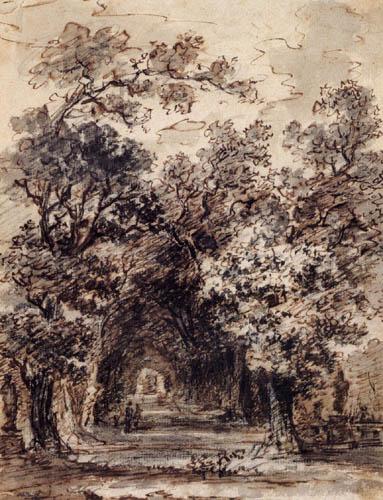 Jean-Honoré Fragonard - Eine Baumallee