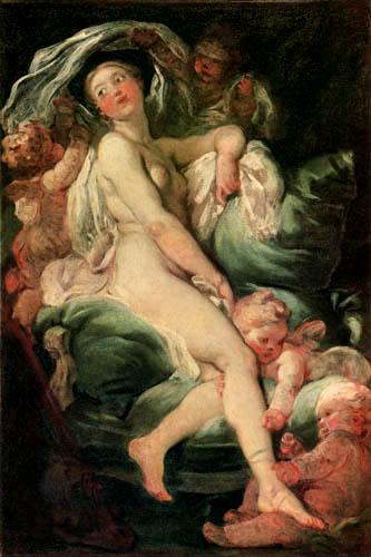 Jean-Honoré Fragonard - Venus en el tocador