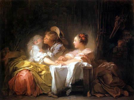 Jean-Honoré Fragonard - Der geraubte Kuss