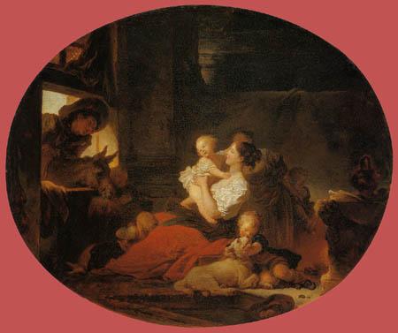 Jean-Honoré Fragonard - Die glückliche Familie
