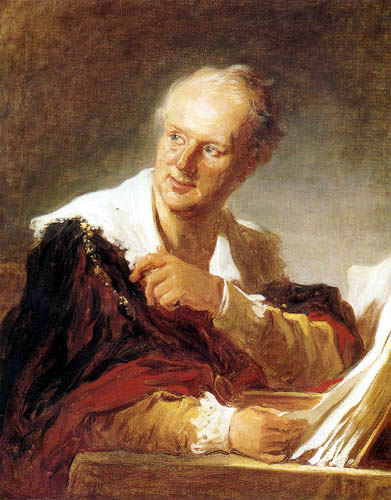 Jean-Honoré Fragonard - Porträt Denis Diderots