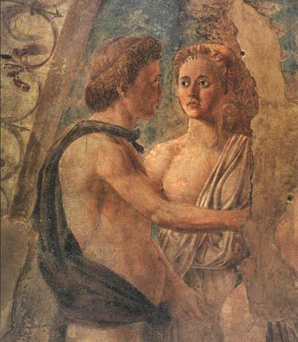 Piero della Francesca - Der Tod Adams, Detail
