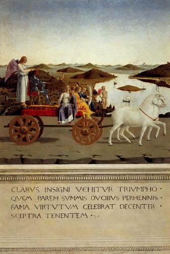 Piero della Francesca - The triumph of Federico da Montefeltro