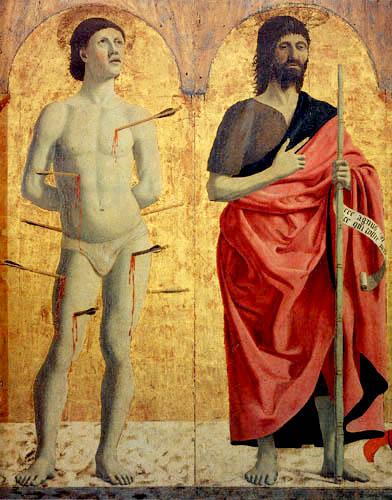 Piero della Francesca - Hl. Sebastian und Johannes der Täufer