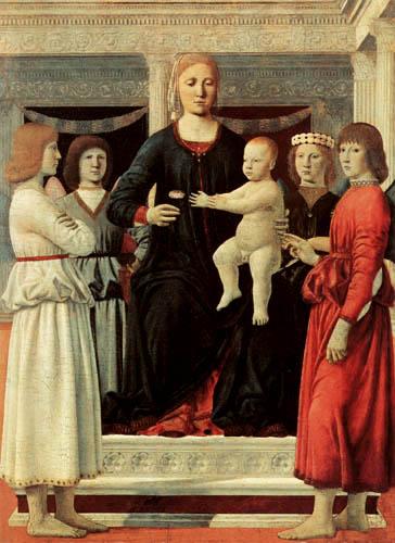 Piero della Francesca - Enthroned Madonna with Child