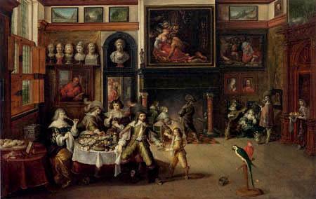 Frans Francken the Younger - Gastmahl im Hause des Bürgermeisters Rockox