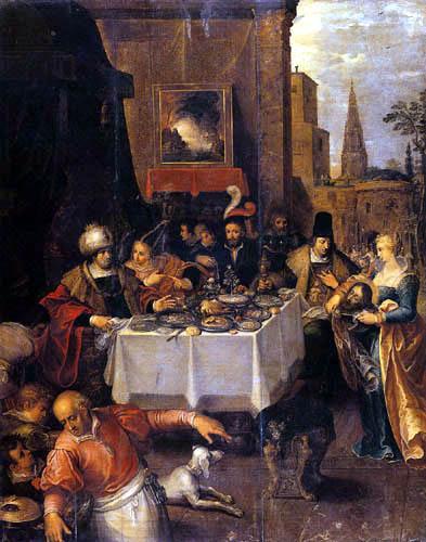 Frans Francken the Younger - Gastmahl des Herodes
