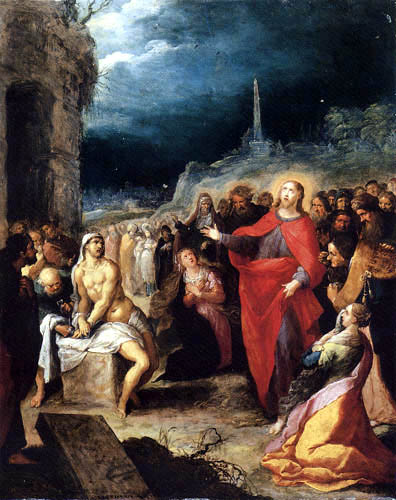 Frans Francken the Younger - The Raising of Lazarus