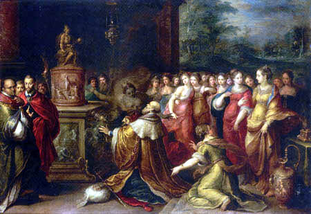 Frans Francken the Younger - The Idolatry of Solomon