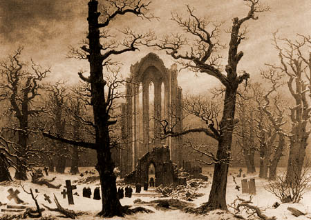 Caspar David Friedrich - Monastery cemetery in the snow