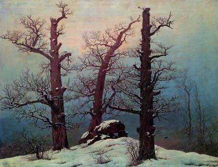Caspar David Friedrich - Hühnengrab im Schnee