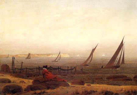 Caspar David Friedrich - Woman at the sea