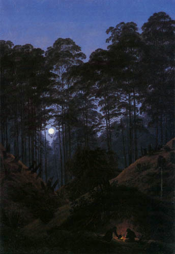 Caspar David Friedrich - In the forest in moonlight