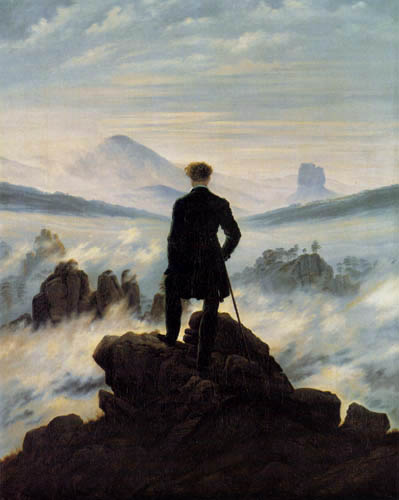 Caspar David Friedrich - The Wanderer over the nebula sea