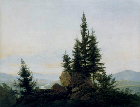 Caspar David Friedrich - Look in the Elbvalley