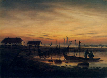 Caspar David Friedrich - Fishing boat in the evening light