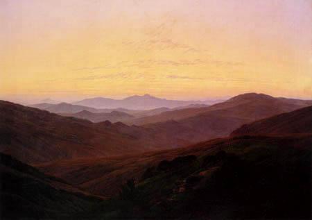 Caspar David Friedrich - Karkonosze or Giant Mountains