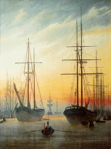 Caspar David Friedrich - View of a port