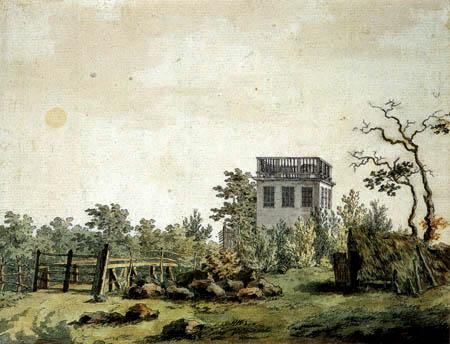 Caspar David Friedrich - Landschaft mit Pavillon