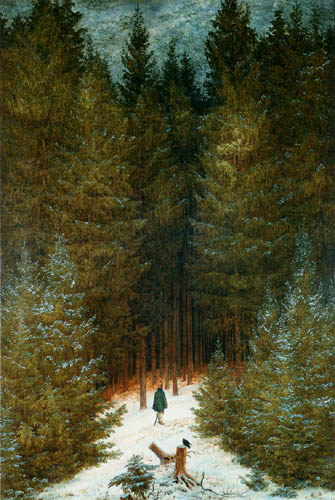 Caspar David Friedrich - The Hunter in the Forest