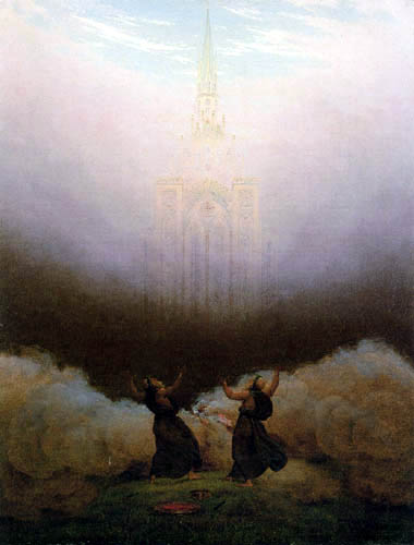 Caspar David Friedrich - The vision of the Christian church
