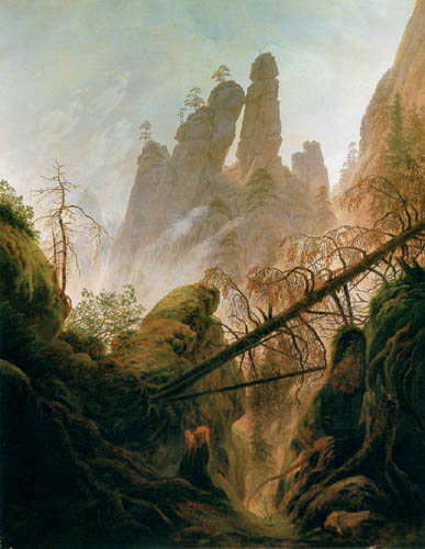 Caspar David Friedrich - Rocky gorge