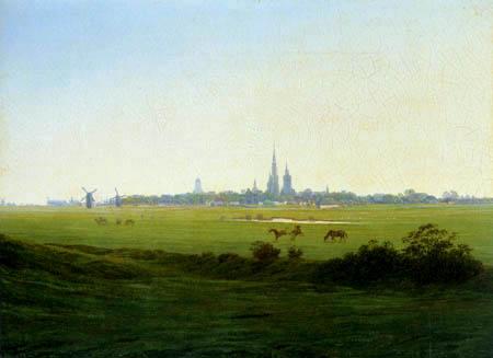 Caspar David Friedrich - Meadows near Greifswald