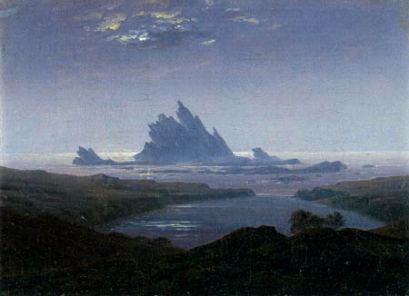Caspar David Friedrich - Rock reef at the sea beach