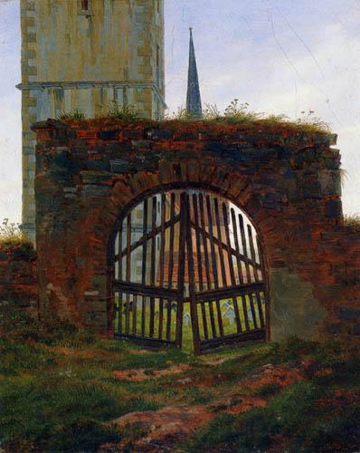 Caspar David Friedrich - The gate of the cemetery
