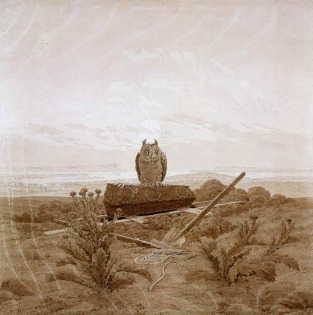 Caspar David Friedrich - Grab, Sarg und Eule