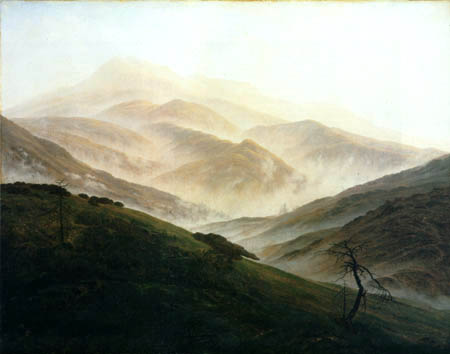 Caspar David Friedrich - Riesengebirgslandschaft im Nebel