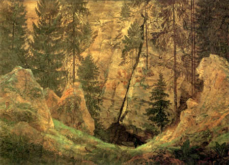 Caspar David Friedrich - Cave and tomb