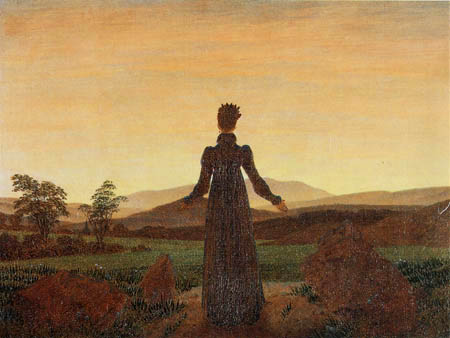 Caspar David Friedrich - Woman in sunset