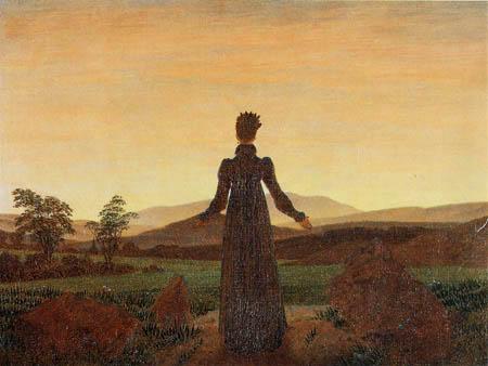 Caspar David Friedrich - Frau vor untergehender Sonne