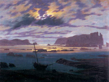 Caspar David Friedrich - Nordic Sea in the Moonlight