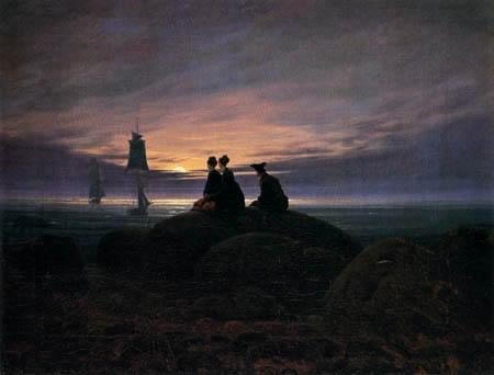 Caspar David Friedrich - Mondaufgang über der See