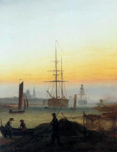 Caspar David Friedrich - Greifswalder Hafen